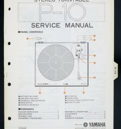 details about yamaha p 10 original stereo turntable turntable service manual diagram o141 [ 803 x 1000 Pixel ]