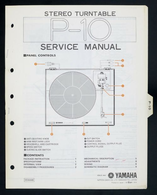 small resolution of details about yamaha p 10 original stereo turntable turntable service manual diagram o141