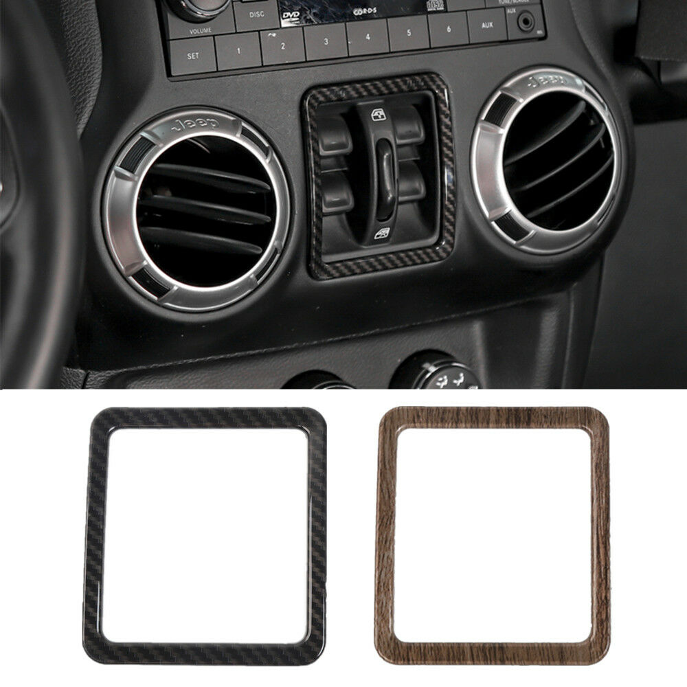 medium resolution of details about window switch button frame cover trims for jeep wrangler 2011 2017 accessories