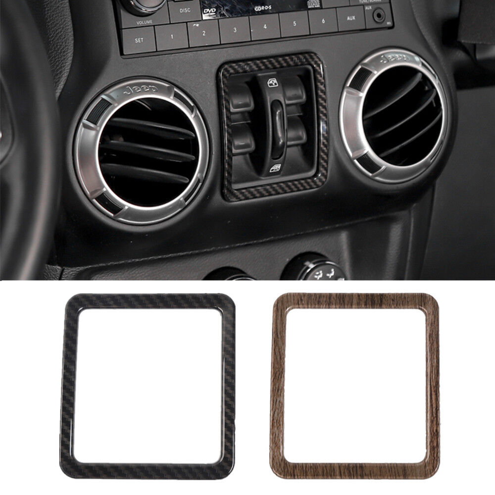 hight resolution of details about window switch button frame cover trims for jeep wrangler 2011 2017 accessories