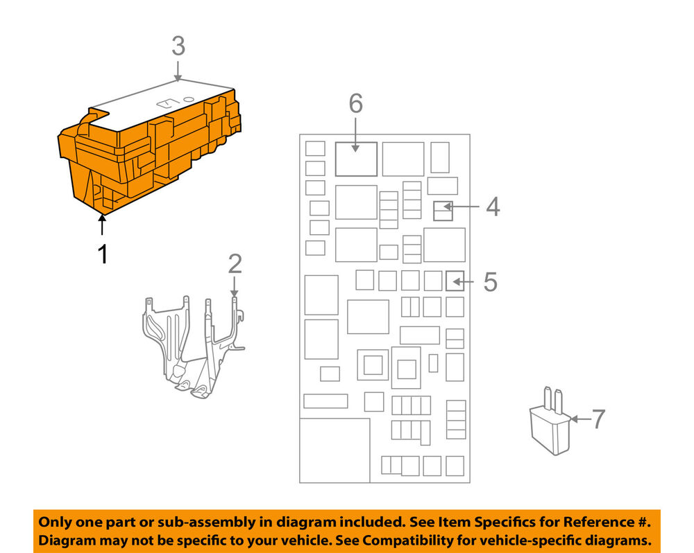medium resolution of details about vw volkswagen oem 2009 routan 3 8l v6 fuse box fuse relay box 7b0937087e