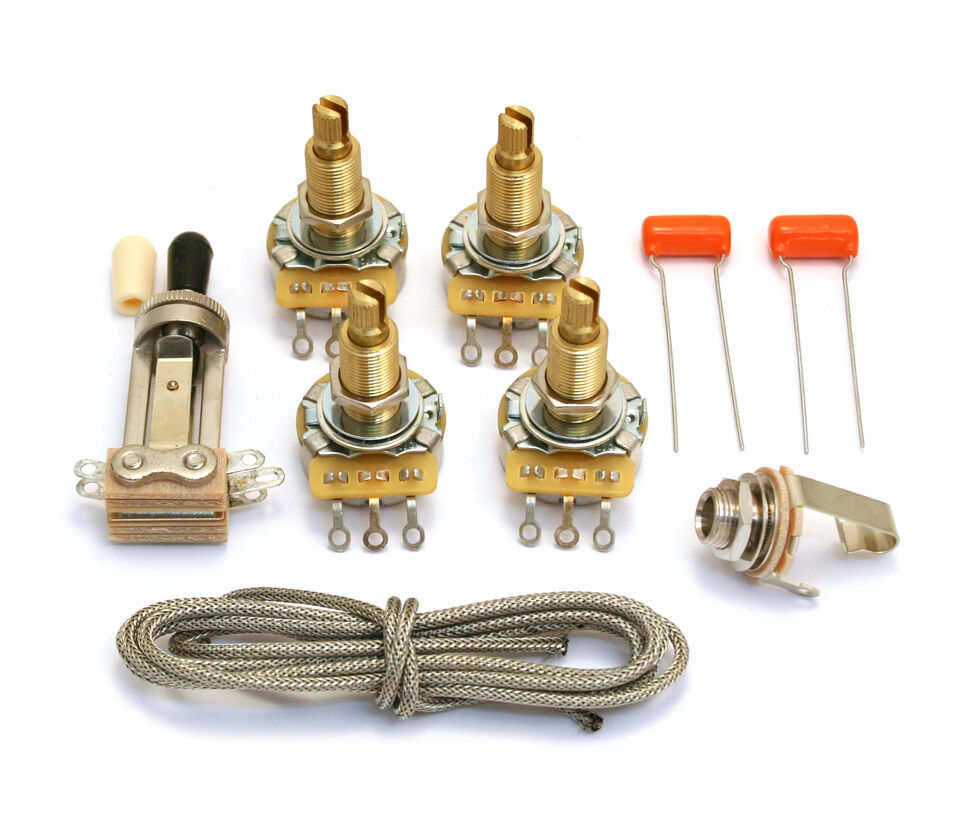 hight resolution of details about vintage style wiring kit for usa gibson les paul arch top guitar wklp vnt