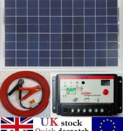 details about 30w pv solar panel 10a pwm charger controller 6m cable clips fuse 12v battery [ 878 x 1000 Pixel ]