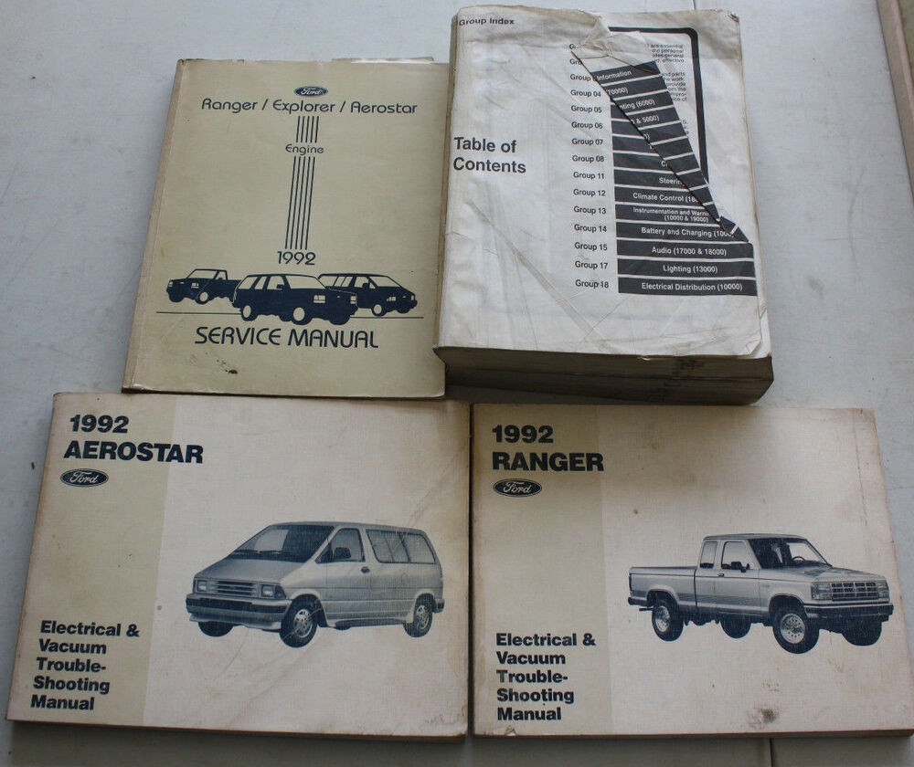 medium resolution of details about 1992 ford service manual wiring diagram aerostar ranger explorer