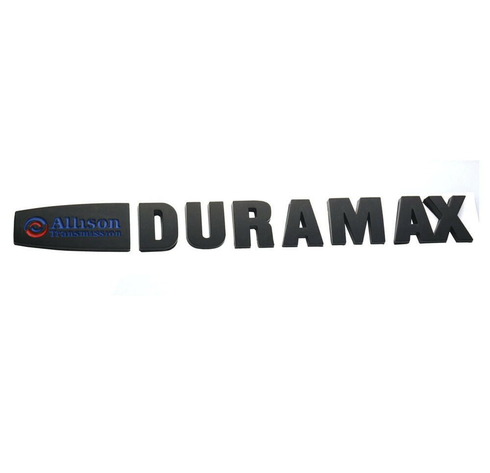 hight resolution of details about 1pc allison duramax badges emblem replacement for silverado 2500 3500hd black 2