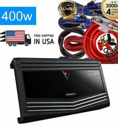 kenwood 900w 4 channel performance series class ab car amplifier kac 8406 kit 704129680395 ebay [ 1000 x 1000 Pixel ]