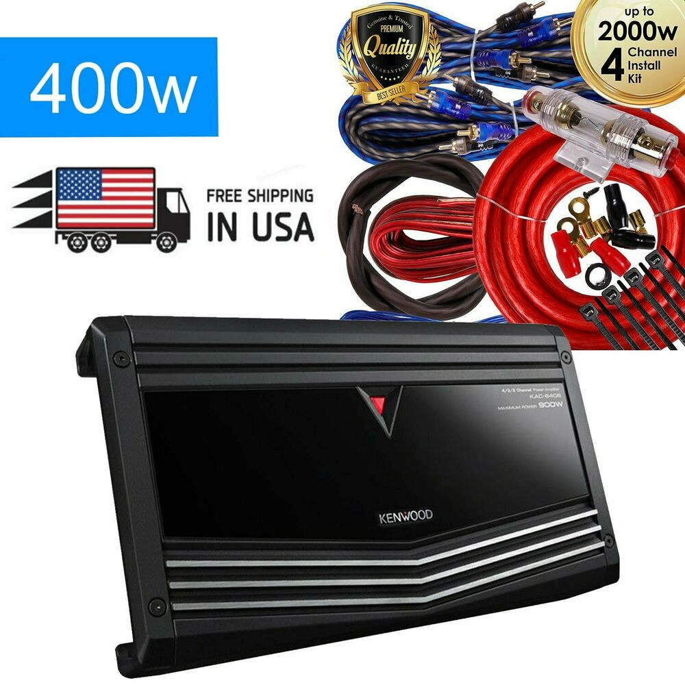 hight resolution of kenwood 900w 4 channel performance series class ab car amplifier kac 8406 kit 704129680395 ebay