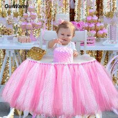 Baby Girl Chair Folding Covers In Bulk High Tulle Tutu Skirt Girls Kids 1st Birthday Party Details About Decoration