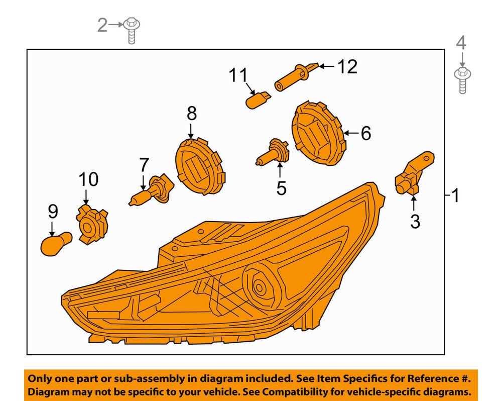 hight resolution of details about hyundai oem 2018 elantra gt headlight assembly right 92102g3040