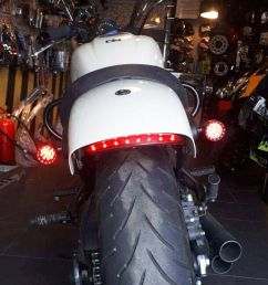 details about bobber cafe racer motorcycle led turn signal tail light brake running bullet red [ 1000 x 1000 Pixel ]