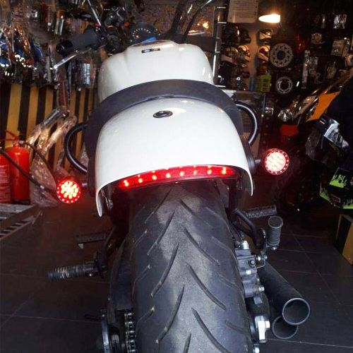 small resolution of details about bobber cafe racer motorcycle led turn signal tail light brake running bullet red