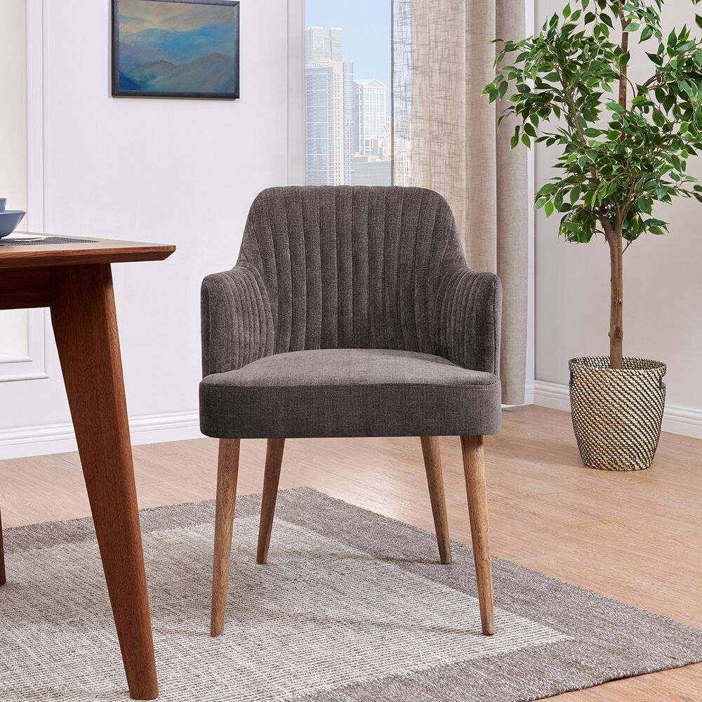 Upholstered Arm Chairs Grey Upholstered Tub Arm Chair Seat Oak Wash Wood Frame Chair Tub Ribbed Dining Ebay