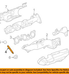 details about land rover oem 17 18 discovery exhaust manifold exhaust manifold stud 1357627 [ 1000 x 798 Pixel ]