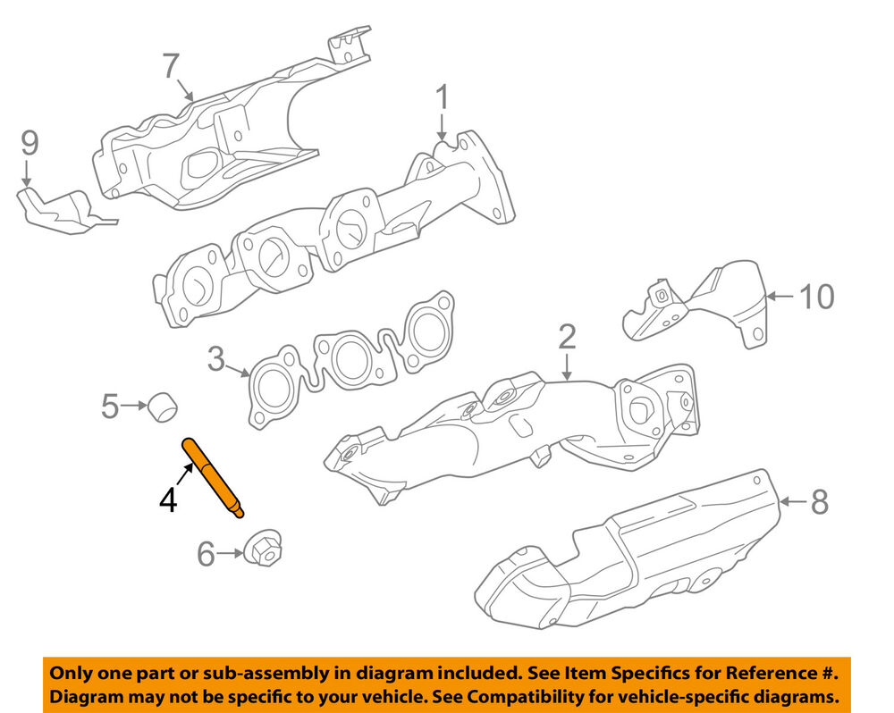 hight resolution of details about land rover oem 17 18 discovery exhaust manifold exhaust manifold stud 1357627