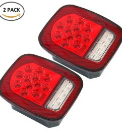 details about led tail lights brake reverse turn signal jeep wrangler cj tj 76 06 rear lamps [ 1000 x 1000 Pixel ]