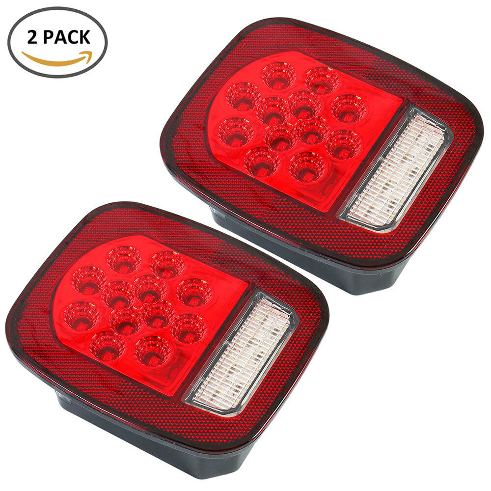 medium resolution of details about led tail lights brake reverse turn signal jeep wrangler cj tj 76 06 rear lamps