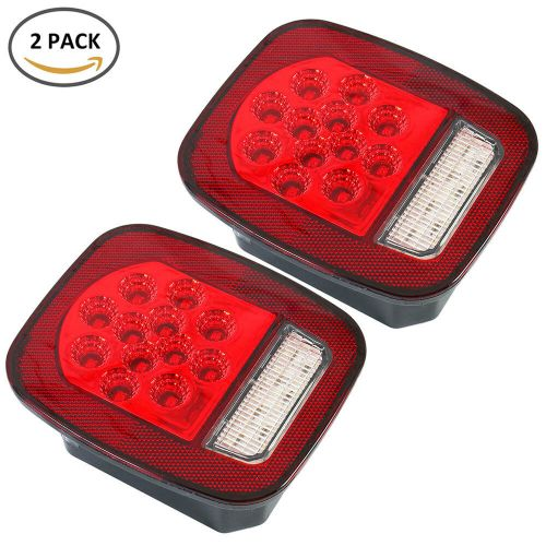 small resolution of details about led tail lights brake reverse turn signal jeep wrangler cj tj 76 06 rear lamps