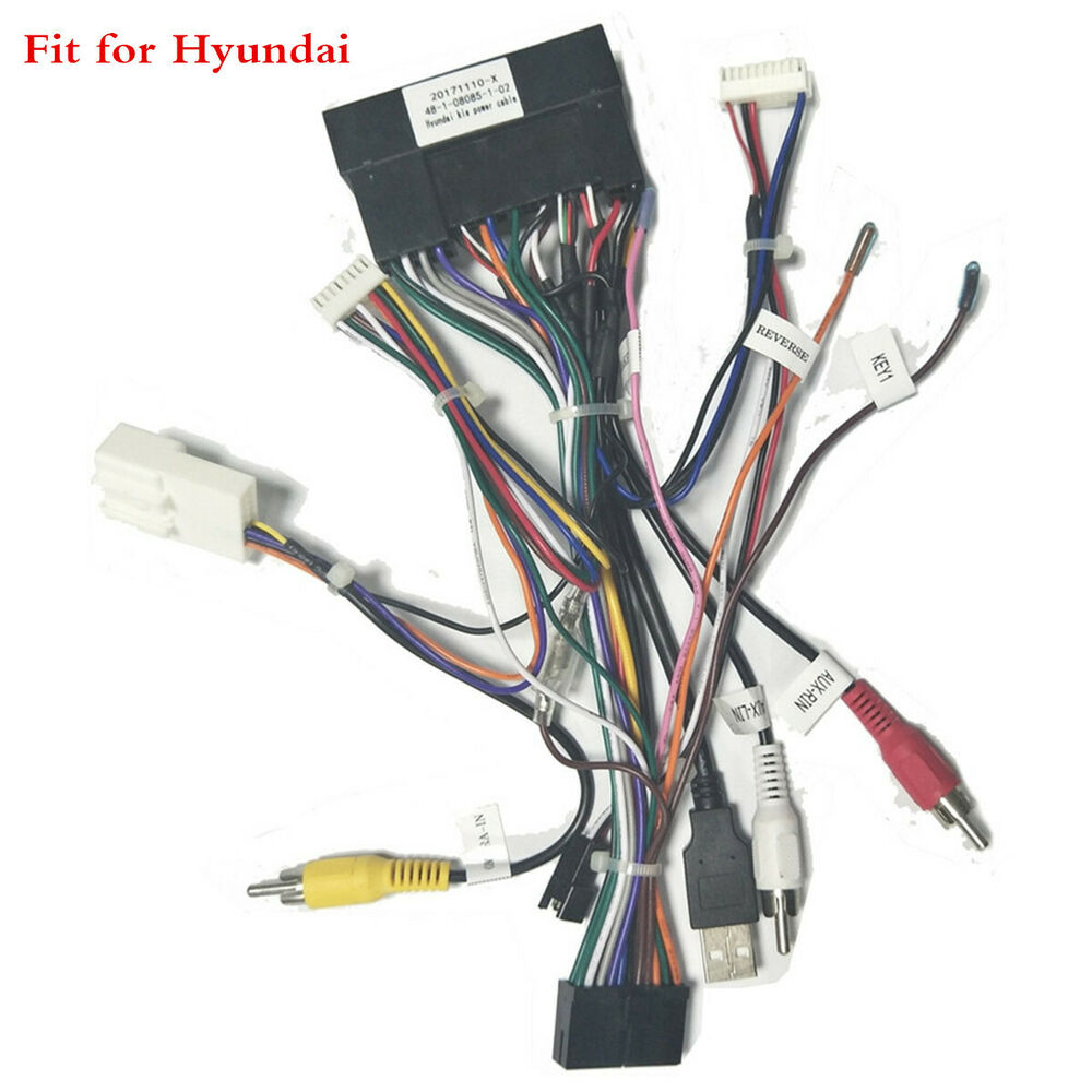 hight resolution of details about car stereo radio video iso wiring harness adaptor for hyundai santa fe ix25 ix35