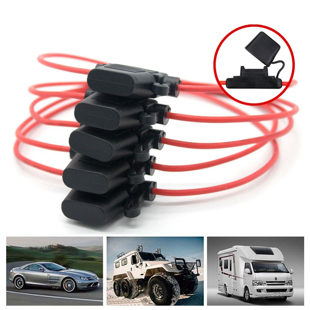 hight resolution of details about car fuse holder mini with wire 12v 30a fuse box splash proof waterproof device