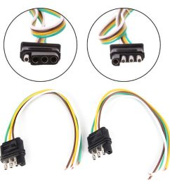 details about 2trailer light wiring harness extension 4 pin plug 18 awg flat wire connector ld [ 1000 x 1000 Pixel ]