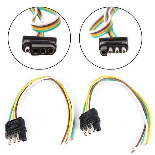 small resolution of details about 2trailer light wiring harness extension 4 pin plug 18 awg flat wire connector ld