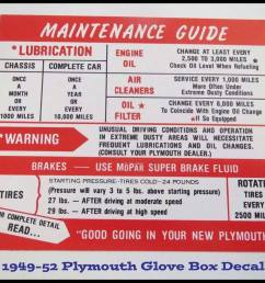 details about 1949 1950 plymouth glove box instructions suburban convertible concord 1951 1952 [ 1000 x 815 Pixel ]
