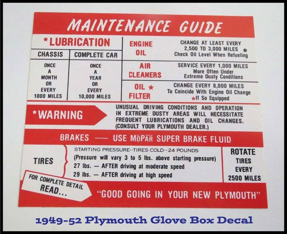 medium resolution of details about 1949 1950 plymouth glove box instructions suburban convertible concord 1951 1952