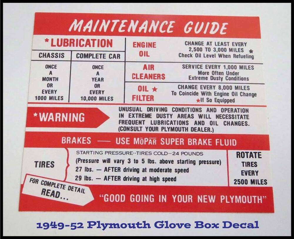 hight resolution of details about 1949 1950 plymouth glove box instructions suburban convertible concord 1951 1952