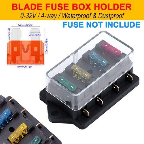 small resolution of details about 12v 24v 4 way blade fuse box holder auto car van marine bus suv motorcycle boat