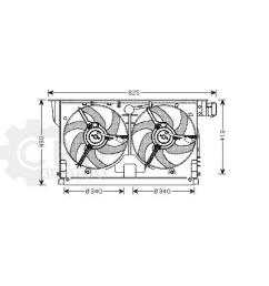 details about fan engine cooling radiator fan peugeot 406 8b break 8e f coupe [ 1000 x 1000 Pixel ]
