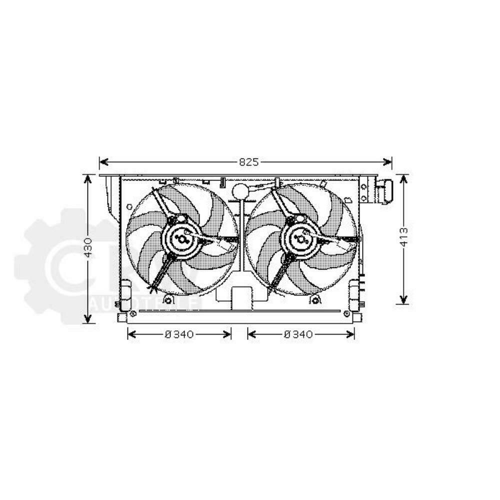medium resolution of details about fan engine cooling radiator fan peugeot 406 8b break 8e f coupe