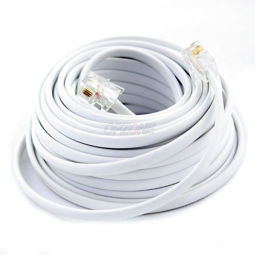 small resolution of details about new 100ft 100 feet white phone line cord dsl cable 4 wires inside