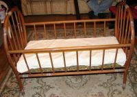 *RARE* Antique Wooden Baby Bed Crib | eBay