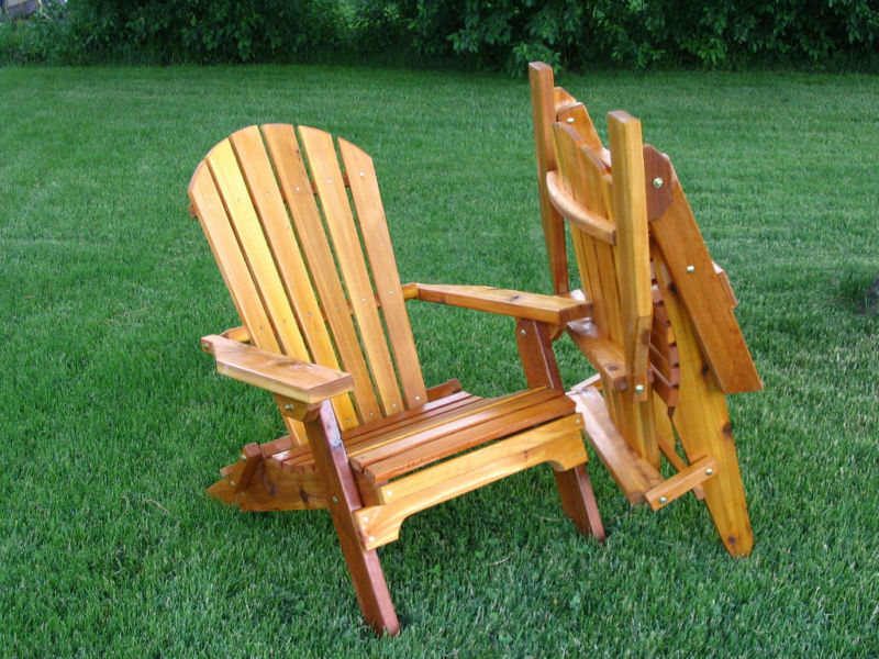 Amish made folding adirondack chair  eBay