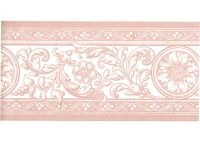 French Damask Pink White Scroll Acanthus Leaf Floral ...