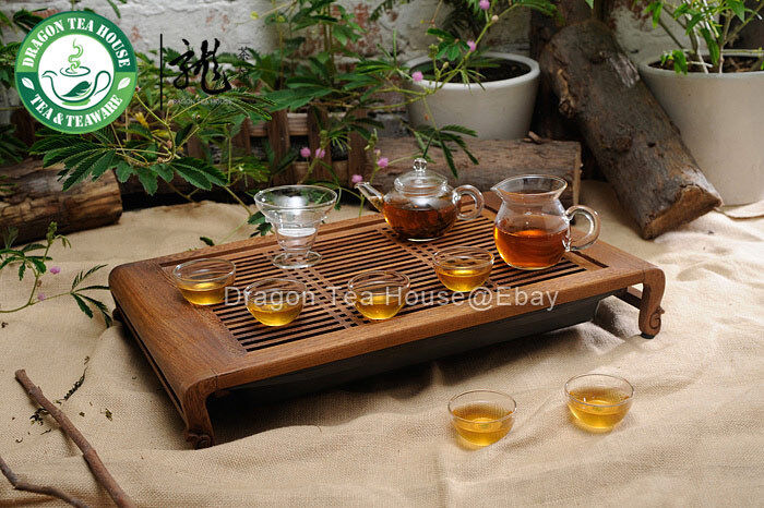 Clear Glass Chinese Gongfu Teapot Tea Set 9 Pcs EBay