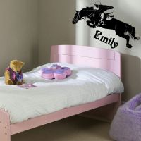 LARGE PERSONALISED HORSE CHILDRENS BEDROOM WALL MURAL ...