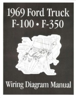 FORD 1969 F100  F350 Truck Wiring Diagram Manual 69 | eBay