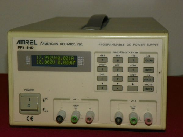 Amrel PPS 184D Dual Output Programmable DC Power Supply