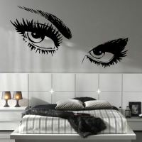 LARGE WOMAN EYES EYE SALON WALL MURAL TRANSFER ART CUT ...
