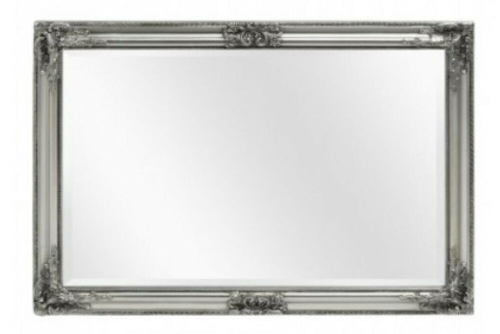 ANTIQUE SILVER ORNATE EXTRA LARGE WALL MIRROR