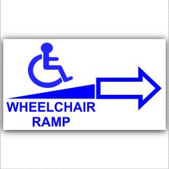 Wheel Chair Ramp Amazon Xmas Covers Wheelchair Access Sticker Sign-disabled,disability,mobility- Right Arrow | Ebay