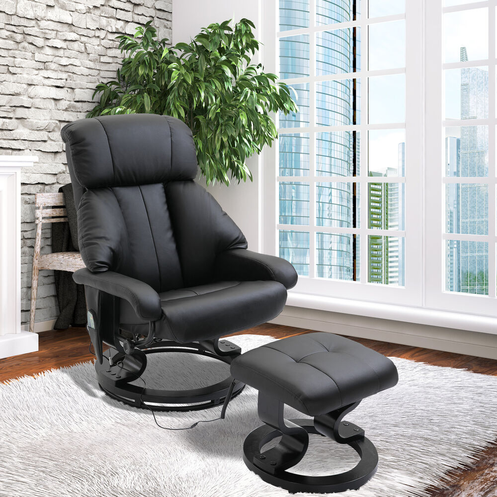 Fuax leather Electric Massage Recliner Chair Sofa Foot