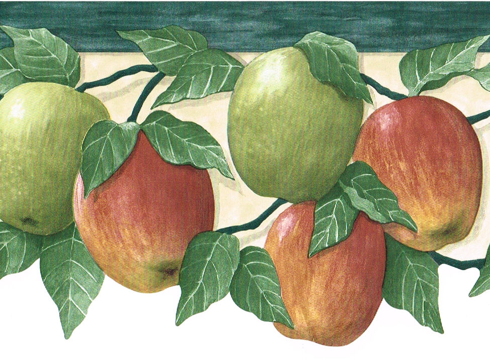 Fruit Red Green Apple Apples Die Cut Kitchen Country Wall