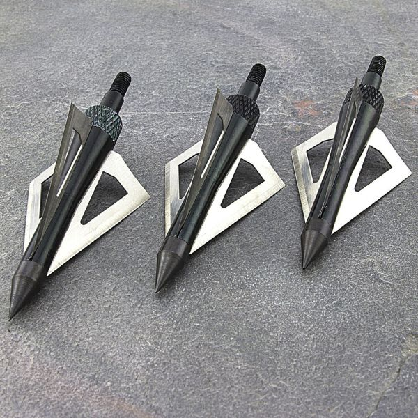 Three Pack 3-blade Broadhead Tips 150 Lb Crossbow