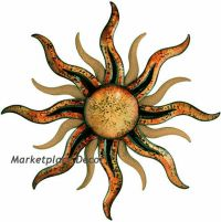 Santa Fe Sun Large Sunburst Metal Wall Art Home Decor ...