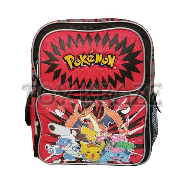 Pokemon Toddler Backpack Black & Red Small Boys School