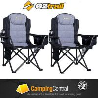 2 x Oztrail BIG BOY Folding Camping Picnic Arm Chair | eBay