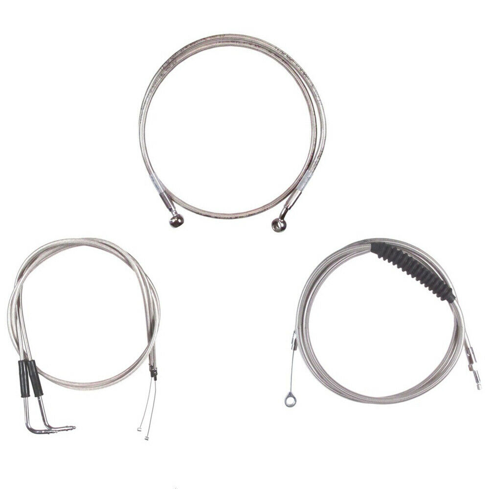 Stainless Cable & Brake Line Bsc Kit 2007-2015 Harley
