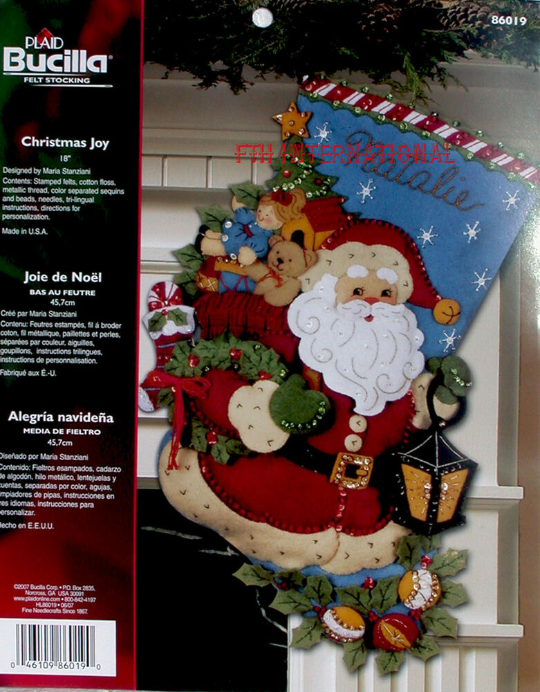 Bucilla Christmas Joy 18 Felt Christmas Stocking Kit